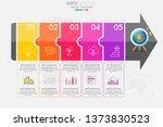 5 steps timeline infographic... | Shutterstock .eps vector #1373830523