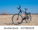 bicycle on a sand | Shutterstock . vector #137383439