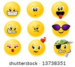 smileys   vector | Shutterstock .eps vector #13738351