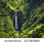 Famous Waterfall On Kauai...