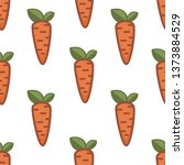 carrot seamless pattern farm... | Shutterstock .eps vector #1373884529