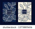 japanese indigo blue background | Shutterstock .eps vector #1373885606