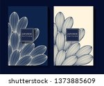 japanese indigo blue background | Shutterstock .eps vector #1373885609