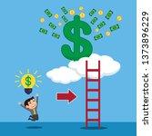 businessman with idea light... | Shutterstock .eps vector #1373896229