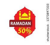 ramadan sale illustration with... | Shutterstock .eps vector #1373897333