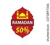 ramadan sale illustration with... | Shutterstock .eps vector #1373897336