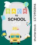 back to school sale vector... | Shutterstock .eps vector #1373900846