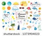 summer illustration set | Shutterstock .eps vector #1373904023