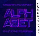 abstract alphabet font.... | Shutterstock .eps vector #1373913320