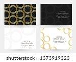 gold ornament. horizontal... | Shutterstock .eps vector #1373919323