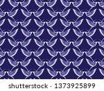 stork pattern design background.... | Shutterstock .eps vector #1373925899