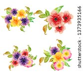 flowers set. collection of... | Shutterstock . vector #1373935166