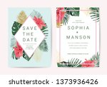 wedding invitation thank you... | Shutterstock .eps vector #1373936426