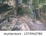 Tourist Trail With Wooden...