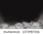 Stock vector fog or smoke isolated transparent special effect white vector cloudiness mist or smog background 1373987336