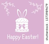 vector illustration with easter ... | Shutterstock .eps vector #1373989679
