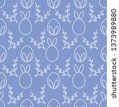 seamless pattern with easter... | Shutterstock .eps vector #1373989880