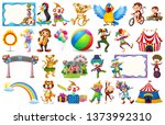 large circus theme set... | Shutterstock .eps vector #1373992310