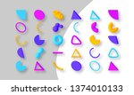 set of colorful abstract...   Shutterstock .eps vector #1374010133