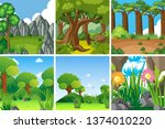 set of nature landscape... | Shutterstock .eps vector #1374010220