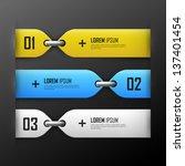 vector bright  banners set | Shutterstock .eps vector #137401454