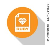 white ruby file document icon.... | Shutterstock .eps vector #1374014699