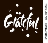 grateful hand drawn postcard....   Shutterstock .eps vector #1374046853