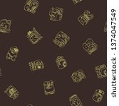 seamless vector pattern with... | Shutterstock .eps vector #1374047549