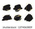 abstract black brush... | Shutterstock .eps vector #1374063809