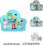 vector illustration of male... | Shutterstock .eps vector #1374069590
