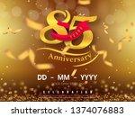 85 years anniversary logo... | Shutterstock .eps vector #1374076883