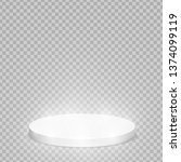 round pedestal sanctified with... | Shutterstock .eps vector #1374099119