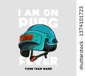 game metal helmets   vector... | Shutterstock .eps vector #1374101723