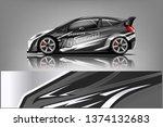 car decal wrap design vector.... | Shutterstock .eps vector #1374132683