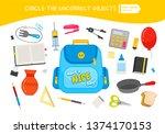 educational game for children.... | Shutterstock .eps vector #1374170153