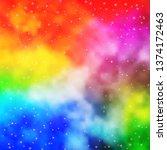 light multicolor vector pattern ... | Shutterstock .eps vector #1374172463