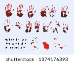 vector handprints and fingers.... | Shutterstock .eps vector #1374176393