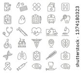 medical icon set | Shutterstock .eps vector #1374180323