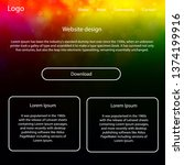 light multicolor vector ui kit...