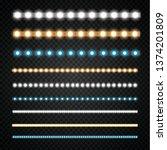 various led stripes on a black...   Shutterstock .eps vector #1374201809