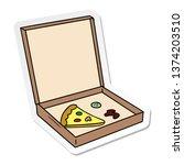 hand drawn sticker cartoon...   Shutterstock . vector #1374203510