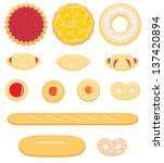 collection of pastry isolated... | Shutterstock .eps vector #137420894
