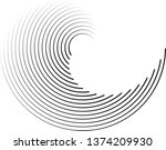 radial speed lines in circle... | Shutterstock .eps vector #1374209930