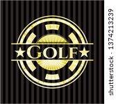 golf gold badge | Shutterstock .eps vector #1374213239