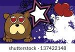 teddy bear ball cartoon... | Shutterstock .eps vector #137422148