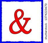 ampersand icon. vector image of ...   Shutterstock .eps vector #1374223670