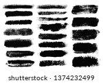 brush strokes. vector... | Shutterstock .eps vector #1374232499