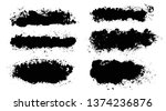 brush strokes. vector... | Shutterstock .eps vector #1374236876