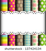 rolls of colored wrapping paper ... | Shutterstock .eps vector #137424134
