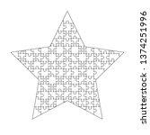 white puzzles pieces arranged...
